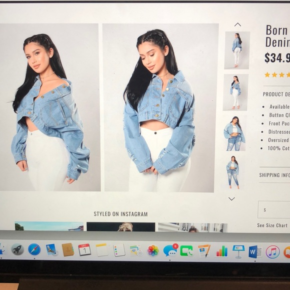 Fashion Nova Jackets Coats Light Cropped Denim Jacket Poshmark